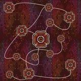 Fondo aborigen del vector del arte Foto de archivo