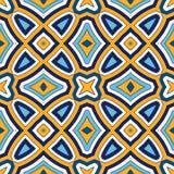 Fondo abstracto étnico brillante Modelo inconsútil con el ornamento geométrico simétrico stock de ilustración