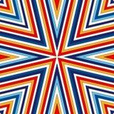 Fondo abstracto étnico brillante Modelo inconsútil con el ornamento geométrico simétrico ilustración del vector