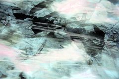 Fondo abstracto ahumado helado con los puntos oscuros Foto de archivo