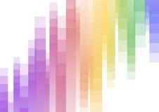 Fondo abstracto al revés del pixel de la velocidad del arco iris Foto de archivo libre de regalías