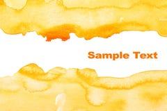 Fondo abstracto amarillo de la acuarela Imágenes de archivo libres de regalías