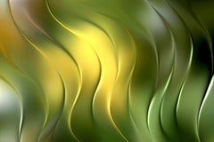 Fondo abstracto amarillo verde de la onda stock de ilustración