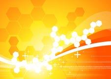 Fondo abstracto anaranjado stock de ilustración