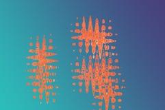 fondo abstracto anaranjado azul Fotos de archivo