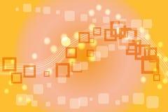 Fondo abstracto anaranjado con dimensión de una variable cuadrada Fotografía de archivo