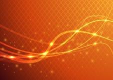 Fondo abstracto anaranjado - llamarada de la energía Fotografía de archivo libre de regalías