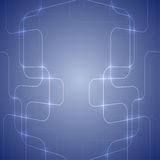 Fondo abstracto azul con la luz que brilla intensamente Imágenes de archivo libres de regalías