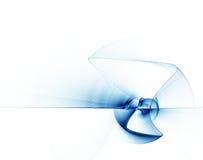 Fondo abstracto azul con las líneas onduladas en blanco ilustración del vector