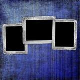 Fondo abstracto azul con los marcos Foto de archivo libre de regalías