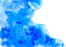 Fondo abstracto azul de la acuarela Imagen de archivo libre de regalías