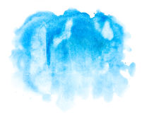 Fondo abstracto azul de la acuarela Imágenes de archivo libres de regalías