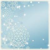 Fondo abstracto azul de la Navidad Foto de archivo
