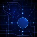 Fondo abstracto azul de la tecnología Foto de archivo