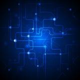 Fondo abstracto azul de la tecnología Imagen de archivo