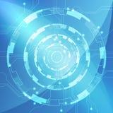 Fondo abstracto azul del circuito de la tecnología, ejemplo del vector Foto de archivo