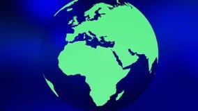 Fondo abstracto azul del eco del globo verde del mundo almacen de metraje de vídeo