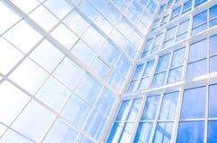 Fondo abstracto azul geométrico Fotos de archivo