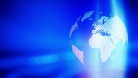 Fondo abstracto azul giratorio del globo