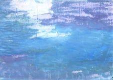 fondo abstracto Azul-gris de la acuarela Imágenes de archivo libres de regalías