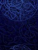 Fondo abstracto azul marino del ornamento libre illustration