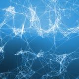 Fondo abstracto azul Puntos de conexión Imagen de archivo