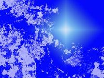 Fondo abstracto azul y blanco Fotografía de archivo