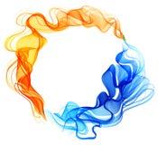 Fondo abstracto azul y rojo, hielo y fuego Foto de archivo