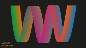 Fondo abstracto bajo la forma de líneas luminosas multicoloras EPS10 ilustración del vector