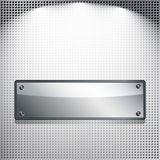Fondo abstracto. Bandera del metal. Fotografía de archivo