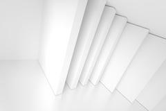 Fondo abstracto blanco de la arquitectura Interior casero moderno Fotos de archivo