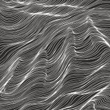 Fondo abstracto blanco y negro con las ondas Imagen de archivo libre de regalías