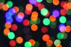 Fondo abstracto borroso bokeh colorido de la estrella Concepto del partido de la Navidad y del Año Nuevo Imagen de archivo libre de regalías