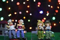 Fondo abstracto borroso bokeh colorido de la estrella Concepto del partido de la Navidad y del Año Nuevo Imagenes de archivo