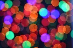 Fondo abstracto borroso bokeh colorido de la estrella Concepto del partido de la Navidad y del Año Nuevo Imagen de archivo