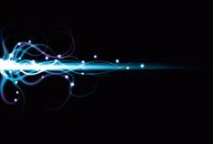 Fondo abstracto borroso de la viga de energía ilustración del vector