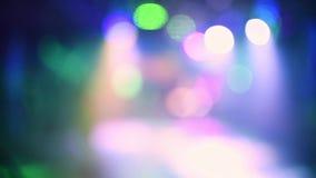 Fondo abstracto borroso multicolor con el bokeh que destella almacen de video
