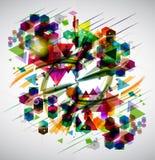 Fondo abstracto brillante Stock de ilustración