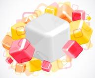 fondo abstracto brillante 3d con los cubos Fotos de archivo