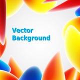 Fondo abstracto brillante con formas coloridas Ejemplo del vector para sus presentaciones Fotos de archivo libres de regalías