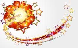 Fondo abstracto brillante con las estrellas de la explosión. stock de ilustración