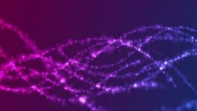 Fondo abstracto brillante del movimiento de la DNA del concepto púrpura azul ilustración del vector