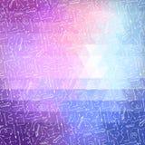 Fondo abstracto brillante del triángulo con las flechas blancas Foto de archivo