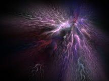 Fondo abstracto brillante púrpura de la luz del efecto del fractal Fotos de archivo libres de regalías