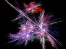Fondo abstracto brillante violeta hermoso de la luz del efecto del fractal Imágenes de archivo libres de regalías