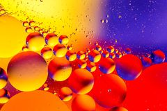 Fondo abstracto cósmico del universo del espacio o de los planetas Sctructure abstracto del átomo de la molécula Burbujas del agu Foto de archivo
