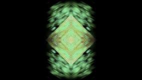 Fondo abstracto, caleidoscopio fractalpsychedelic único de la fantasía del estilo futurista almacen de video