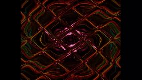 Fondo abstracto, caleidoscopio psicodélico creativo futurista metrajes