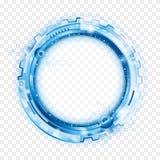Fondo abstracto circular de la tecnología stock de ilustración