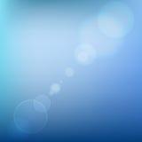 Fondo abstracto coloreado suavidad azul con la lente ilustración del vector